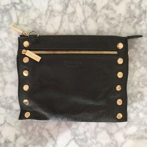 Hammitt genuine leather studded clutch